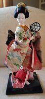 Vintage Japanese Geisha Doll 13 inch  TSUZUMI Hand Drum