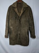 Ermengildo Zegna Sport Genuine Shearling Long Coat sz M Jacket Made In Italy