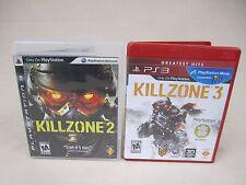 (Lot Of 2) Killzone 2 & 3 (Sony Playstation 3) Ps3