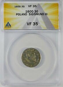 1600 Poland 3G Sigismund III ANACS VF35