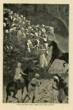 1883-Antiguo impresión Escocia ardeer Ayrshire Nobels dinamita fábrica (29B)