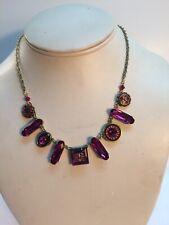 Firefly Schwarovsky Crystal Ruby Necklace