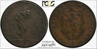 1793 Great Britain Tk 1/2 Penny PCGS XF45 Lancashire Manchester T1 Graded Higher