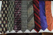 Men's Vintage Classic Tie Lot Wide Skinny Variety Colors & Brands 15 ties