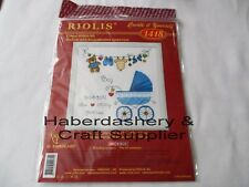 CROSS STITCH KIT BIRTH ANNOUNCEMENT PRAM NEEDLE WORK*BOY 1418