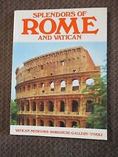 Splendors of Rome and Vatican Book, Guideboook, Museums, What to See!