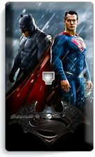 BATMAN V SUPERMAN SUPERHEROS PHONE JACK TELEPHONE WALL PLATE COVER BOYS BEDROOM
