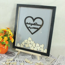 Personalized Couple name Signature Heart Drop Top Box Gift Wedding Guest Book