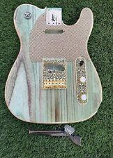 Pistols Crown Barncaster Tele BODY ONLY Guitar Handmade In USA Light Surf Green