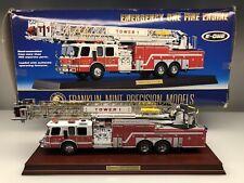 Franklin Mint E-One Emergency One HP 105 Platform Fire Truck 1:32 Diecast Model