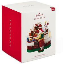 Hallmark 2018 Santa's Magic Train Musical Ornament North Pole Elf Train Workshop