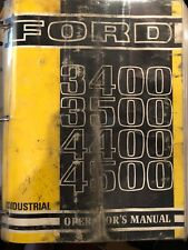 FORD 3400 3500 4400 4500 Operators Manual And Supplement 1964-1973 6-1 To 10-13