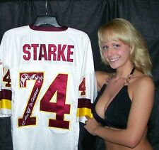 "George Starke signed jersey - Redskins - ""Super Bowl, Head Hog & 70 Greatest"""