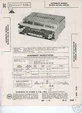 1960 DeSoto Dart Dodge Car Radio Models DE-300 DX-410 DXA-50 Photofact