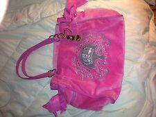 JUICY COUTURE Crown Daydreamer Purse Tote Handbag Pink/grey YHRU3052