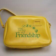 More details for fly friendship vintage 1970s? airline flight cabin bag messenger yellow retro