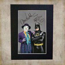 BATMAN & JOKER Jack Nickolson Signed Mounted Autograph Photo Re-Print (A5)