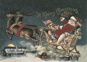 A Merry Christmas (: Art Print of Vintage Art :)