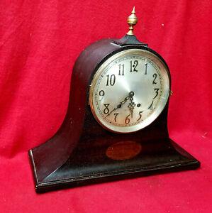 Antique Brass Topped Finial Seth Thomas Striking Mantle Clock