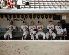 1957 Milwaukee Braves in Dugout Hank Aaron Color Pic 8 X 10 Photo Free Shipping