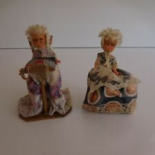 2 Characters Dolls Collection Suit Old Tradition Folkloric Hand Made