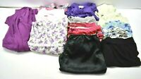 Lot of 14 Women's XL Various Brands & Styles Pajama Pants, Tops, Robe, & Set