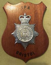 Bristol Constabulary IPA Besuch 1979 Polizei Chef Andenkentafel ZIN BGSK Nord
