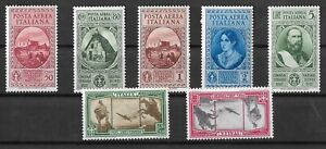 Italy SASS A32 To A38, LH + Airmails Cat €150, 2 Cards (A89)
