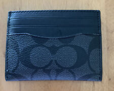 Coach ID Card Case Signature Charcoal/Black | F58110 NWT (MCL)