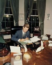 President John F. Kennedy signs Cuba Quarantine Order Oval Office New 8x10 Photo