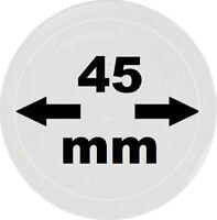 100 x LOOK Münzkapseln 45 mm Innendurchmesser - Aussen. 51 mm Glasklar mit Rand