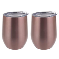2PK Oasis 300ml Stainless Steel Double Wall Insulated Wine Drink/Tumbler Rose GD