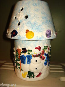 Snowmen Candle Lamp New In Box