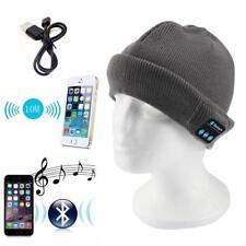 Warm Beanie Hat Wireless Bluetooth Music Cap Headphones Headset Speaker Mic G QT