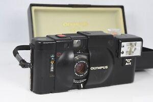 Olympus XA 35mm Rangefinder Film Camera Body A11 Flash Tested