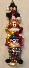 """1998 Christopher Radko Ornament 10"""" Tall High Jinks Clown Totem Pole 98-015-0"""