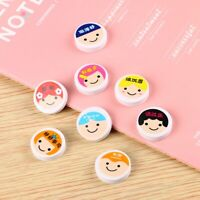 Circle  Rubber Eraser Cute Smiley Cartoon  Rubber Students Stationery Creative x