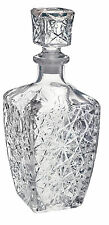 Vintage Cut Glass Whiskey Decanter Jack Daniels Bourbon Bottle Stopper Home Bar