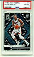 2017 Bam Adebayo ROOKIE Panini Spectra #76 RC PSA 8 MN-MT Miami Heat All Star
