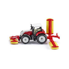 SIKU 1672 Tractor Steyr with Pöttinger mower combination Red (Blister Pack) NEW!