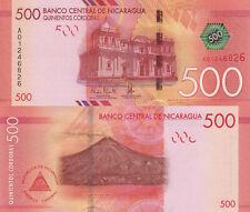 Nicaragua 500 Córdobas (2015) - Paper Note/p214 UNC