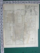 1913 JAPAN JAPANESE TOURIST MAP KYOTO CITY PLAN ~ PUBLIC BUILDINGS STREETS PARK