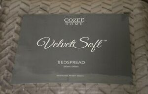 Mink Cozee Home Velvetsoft Braided Texture Filled Bedspread - One Size - New
