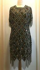 ASOS TALL Premium Sequin Cocktail Dress Size 16 Uk BNWT* RRP £120 Black