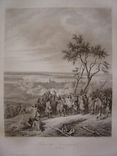 Grande gravure de la Prise de Nimègue Nijmegen Nimwegen le 9 juillet 1672