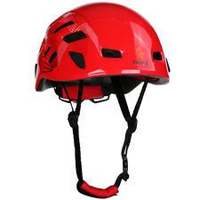 Red Safety Zipline Rock Climbing Downhill Helmet Rappelling Protector Equipment