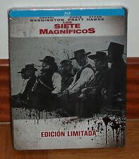 LOS SIETE MAGNIFICOS EDICION LIMITADA STEELBOOK BLU-RAY NUEVO (SIN ABRIR) R2