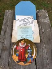 "Vintage Edwin M. Knowles Plate ""Tommy The Clown"" John Mcclelland Reco Complete"