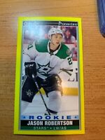 OPC 2020-2021 JASO ROBERTSON YELLOW BORDER TALL BOYS ROOKIE HOCKEY CARD P-38