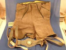 M43 VINTAGE LEDERHOSEN AUTHENTIC GERMAN SUEDE LEATHER OKTOBERFEST MARKED 14